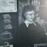 Lila at the pack station store in 1981