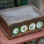 Lila Adams' old cash box, still in use here at the pack station